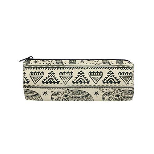 Imobaby - Estuche para lápices de elefantes aztecas, multifuncional, bolsa de papelería,...