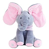 KidsT.C(TM) Peek A Boo Electronic Music Elephant Soft Dolls Toys/Animal Elephant /Plush Toys A Good Gift For Baby/Children