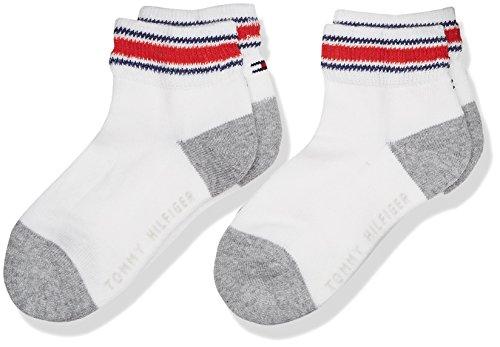 Tommy Hilfiger Jungen Socken TH KIDS ICONIC SPORTS QUARTER 2P 2er Pack, Weiß (White 300) 27-30