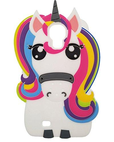 Samsung Galaxy S4 Coque, BENKER Mode Mignon 3D Motif Cartoon Conception,Matériau TPU Silicone Durable, Téléphone Intelligent Housse Bumper Cover - Couleur Licorne