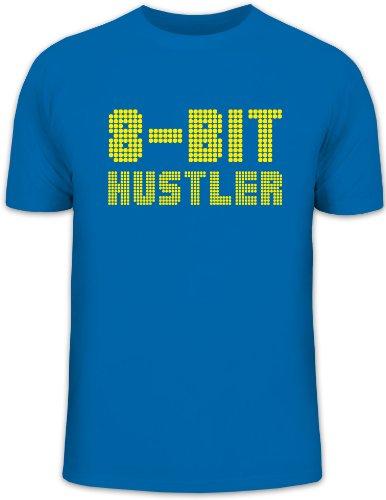 Shirtstreet24, 8 BIT HUSTLER, Gamer Retro Funshirt, Größe: XXL, royal blau -