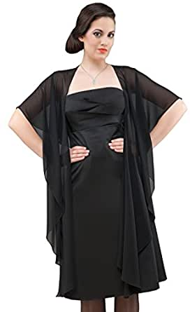 chiffon stola in form zum abendkleid schwarz bekleidung. Black Bedroom Furniture Sets. Home Design Ideas