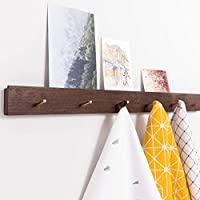 Inman Home - Perchero rústico de pared flotante de roble macizo percha de madera disponible 3