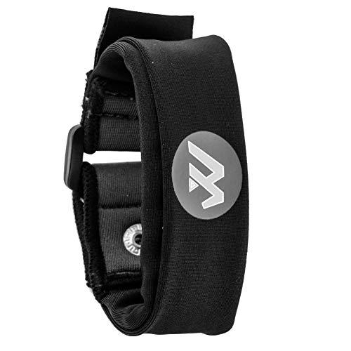 Wwin Multi Farbige Handgelenk Brieftasche/Sport-Armband Passt für Männer Frauen - Ein identifizierbarer Sport Armband, Perfekt für Veranstaltungen Laufen Fitness-Training Wandern Reisen - Schwarz