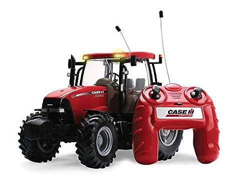 """TOMY Britains Traktor """"RC Case IH 140 Big Farm"""" in rot - ferngesteuerter Traktor aus Kunststoff mit Fernbedienung - Trecker zum Spielen und Sammeln - ab 3 Jahre"""