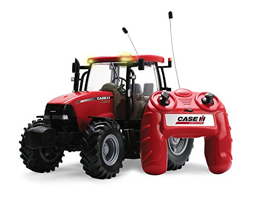 RC2 (Learning Curve) TOMY Britains Traktor RC Case IH 140 Big Farm in rot - ferngesteuerter Traktor aus Kunststoff mit Fernbedienung - Trecker zum Spielen und Sammeln - ab 3 Jahre