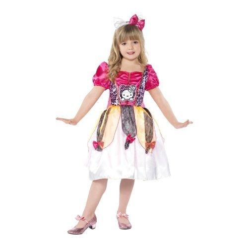 Hallo Kitty Märchenprinzessin Kostüm. Kleid und Stirnband. Medium 5-7 Jahre. (Small gemacht, empfehlen wir für 4-6 Jahre)
