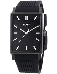 Hugo Boss  0 - Reloj de cuarzo para hombre, con correa de silicona, color negro