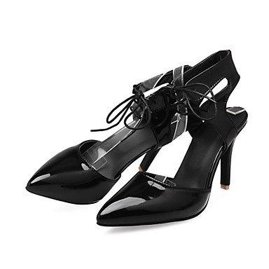 LvYuan Da donna-Zoccoli e ciabatte-Ufficio e lavoro Formale Serata e festa-Club Shoes Innovativo-A stiletto-Vernice-Nero Rosso Bianco Black