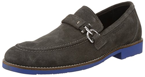 Woodland Men's Dark Grey Leather Suede Loafers - 8 UK/India (42 EU)  available at amazon for Rs.1478