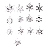 ‏‪KESYOO 70pcs DIY Snowflake Necklace Pendant Accessories Chritstmas Gift Necklace Accessories for Jewelry‬‏