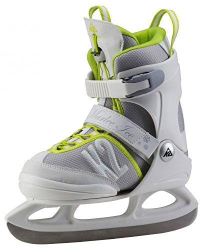 K2 Kinder Schlittschuhe MARLEE ICE, weiß/grau/gelb, 29-34, 25A0200.1.1.S