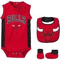 NBA Chicago Bulls Newborn Babygrow-Bib and Bootie Set, Conjunto para Bebés