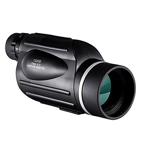 BNISE® Explorer 13X50 High Powered Monocular Scope with Reticle, Bright and Clear Range of View - Simple Hand Focus - Waterproof, Fogproof - For Bird Watching, or Wildlife - Daytime Use