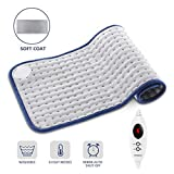 MIGICSHOW Heating Pad, Neck Shoulder Back Heating Pain Relief Whole Body Applicable, Washable Heat Pad with Auto Shut Off, 6 Heat Setting and Dry/Moist Heat Therapy 12x24in