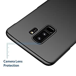 Kapa Silk Smooth Finish [Full Coverage] All Sides Protection Slim Back Case Cover for Samsung Galaxy S9 + (Plus) - Black