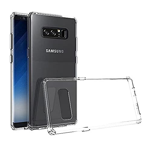 Coque Galaxy Note 8, Ferlinso Ultra Mince résistant aux rayures Crystal Clear Silicone TPU Rubber Soft Skin Housse de protection en silicone avec [Protection écran] pour Samsung Galaxy Note 8 (Transparent)