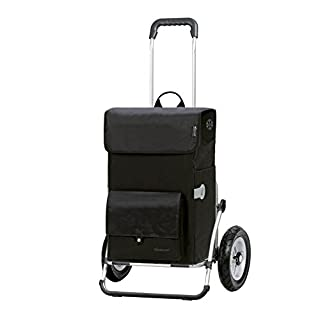Andersen Shopping trolley Royal XXL with bag Asta black, Volume 45L, thermal bag, aluminium frame and Pneumatic wheels