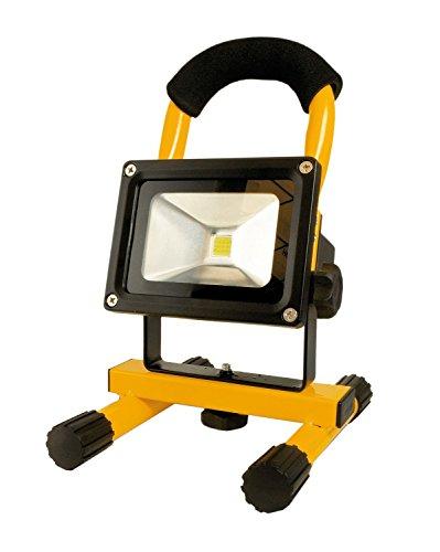 ARCAS 10 WATT FOCO REFLECTOR LED CON BATERIA  INCLUYE ADAPTADOR DE CA Y CARGADOR ADAPTADOR 307 00029