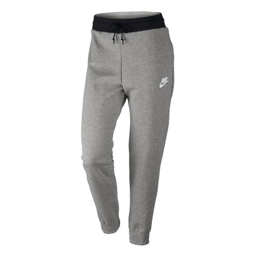 Nike Damen W NSW AV15 Pant Fleece Trainingshose, Dunkel Heidekrautgrau/Schwarz/Weiß, L