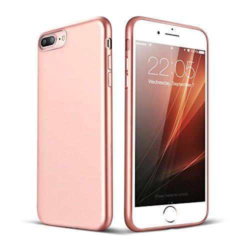 """iPhone 7 Plus Hülle, ESR Ultra-Slim Soft TPU Case Einfache stilvolle Vollschützend Matt schutzhülle für Apple iPhone 7 Plus 5,5 """"(Rosygold) Rosygold"""