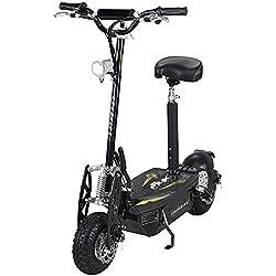 E-Scooter Roller Original E-Flux Freeride 1000 Watt 48 V mit Licht und Freilauf Elektroroller E-Roller in vielen Farben (Schwarz)