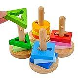ACOOLTOY Giochi Incastro Costruzioni Puzzle Gioco Forme Incastri in Legno per Bambini