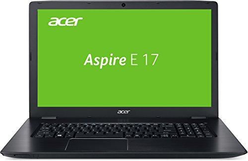 Acer Aspire E 17 (E5-774G-52E2) 43,94 cm (17,3 Zoll Full-HD matt) Notebook (Intel Core i5-7200U, 8GB RAM, 128GB SSD, 1.000GB HDD, NVIDIA GeForce 940MX, Win 10 Home) schwarz