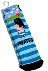 Peppa Pig George Pirates Chausson chaussettes taille 3-5.5 UK (EU 19 – 22)
