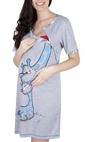 Mija Camicia da notte 2 1 cotone Premaman/Allattamento/allattamento al seno 2050