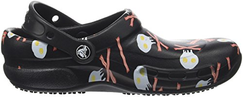 crocs Unisex-Erwachsene Bistrogrphicclg Clogs Schwarz (Black/White) XI0wqJNK