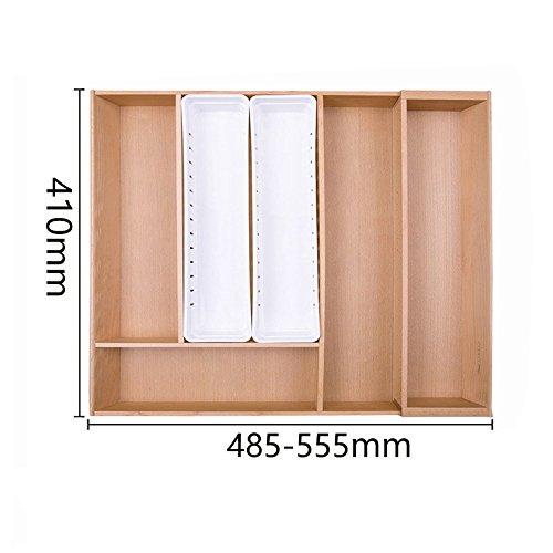 Organisateur/diviseurs tiroir extensible pour couverts, vaisselle Cuisine Boîte de rangement tiroirs de stockage libre,C