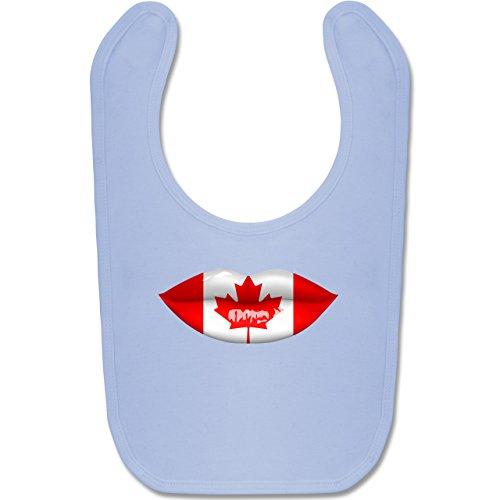 Städte & Länder Baby - Lippen Bodypaint Kanada - Unisize - Babyblau - BZ12 - Baby Lätzchen Baumwolle