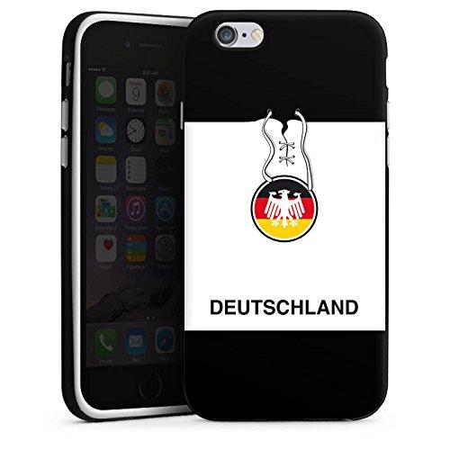 Apple iPhone X Silikon Hülle Case Schutzhülle Deutschland Fußball Trikot Silikon Case schwarz / weiß