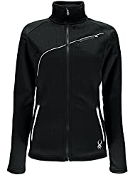 Spyder Essential Mid Wt Core Sweat - Jersey para mujer, color negro, talla M