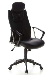 Buerostuhl24 634300 Torbole Executive Office PU Leather Black