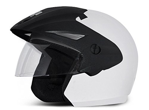 Vega Cruiser CR-W/P-W-M Open Face Helmet (White, M)