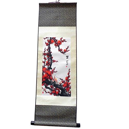 Pittura Asiatica su seta-Kakemono Meihua-Decorazione da parete
