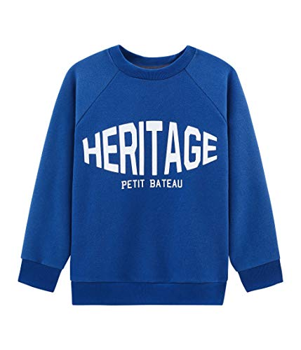 Petit Bateau 4969401, Sweat Shirt Garçon, Bleu (Limoges 01), 152 (Taille Fabricant: 12ans/152centimeters)