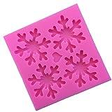 MagiDeal Stampo di Silicone con Forme Particolare Muffa di Resina Strumenti di Fai Da Te Artigianato - Fiocchi di Neve