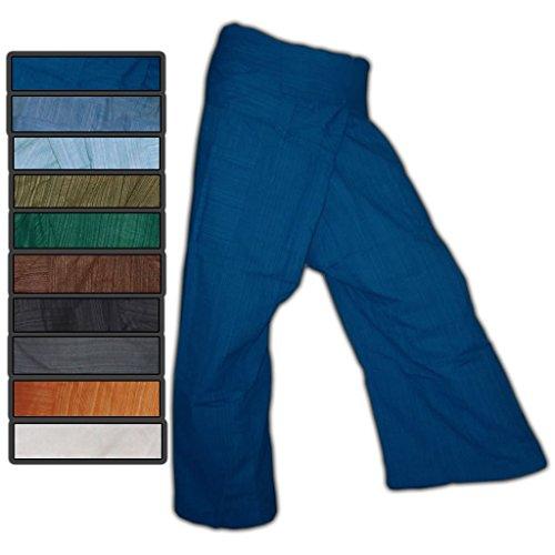 Panasiam® Thai Fisherman pants, der echte Klassiker, S-L und XL, 13 verschiedenen Farben, mit Tasche, aus echter B.wolle, aus kleinen Familienbetrieben Grn