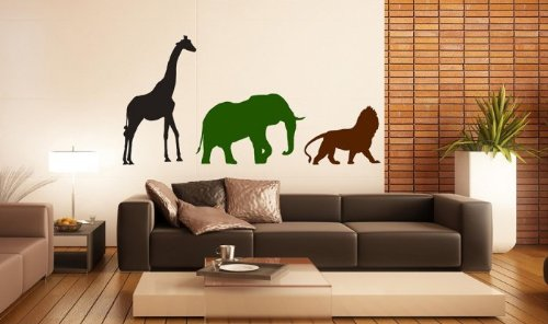 salvajes-animales-africanos-vinilo-adhesivo-decorativo-para-pared-black-moss-green-nut-brown-giant