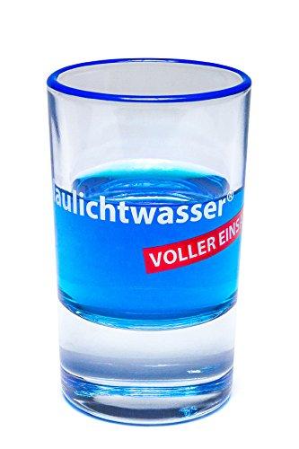 Blaulichtwasser - Blaulichtwasser Shot-Glas VOLLER EINSATZ!