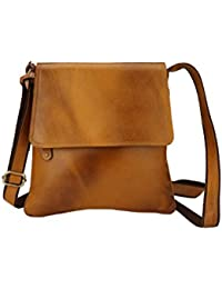 Carry ME Original Leather Sling Bag In Light Brown Color (28 X 26 X 4 Cm)