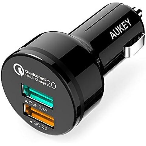 Aukey CC-Y5-AYES - Cargador de coche, color negro