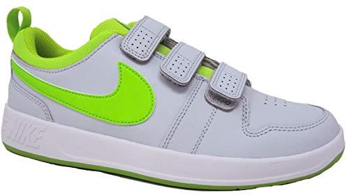 Nike Unisex-Kinder Pico 5 (PSV) Sneaker, Grau (Pure Platinum/Electric Green-White 002), 35 EU (Kleinkind Nike Basketball Schuhe)