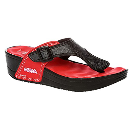 Adda Women's Flip-Flops Red Synthetic House ...