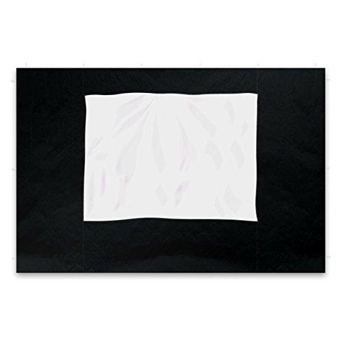 Nexos 2 Stück Seitenteile Seitenwände Ersatzwände mit Fenster für Profi Falt-Pavillon Festzelt - hochwertig - 295 x 215 cm/PE 180 g/m² - schwarz