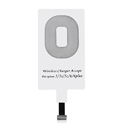 iPhone Qi Receptor ,CHOE Ultra fino Qi receptor inalámbrico del cargador receptor de carga inalámbrico Patch Chip módulo para iPhone 7/7 Plus, iPhone 6/6 Plus, iPhone 5/5s/5c