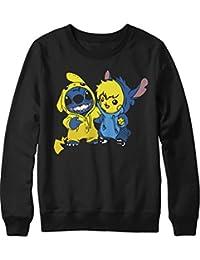 Sweatshirt Pikachu Stitch Freunde Friendship Pixar Nintendo Pokemon C980022